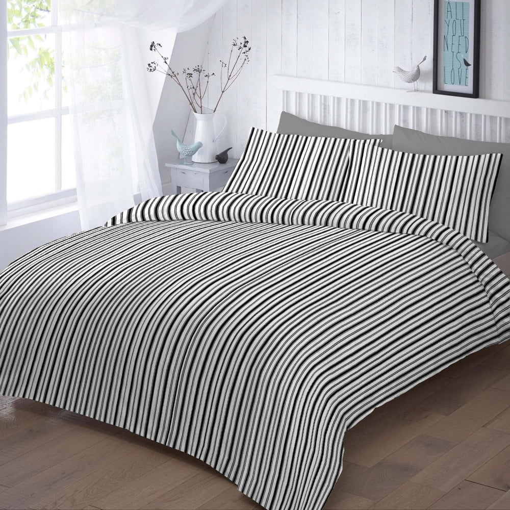 duvet cover shipping white grey amazon bedding in and handmade linen natural com reversible striped dp